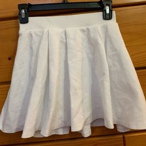 Forever 21 White Skater Skirt